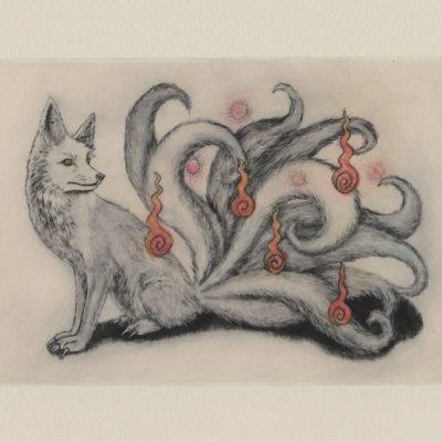 九尾の狐 postcard (front)