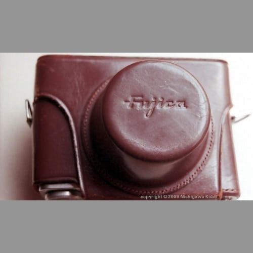 Fujica 35-ML in its leather case
