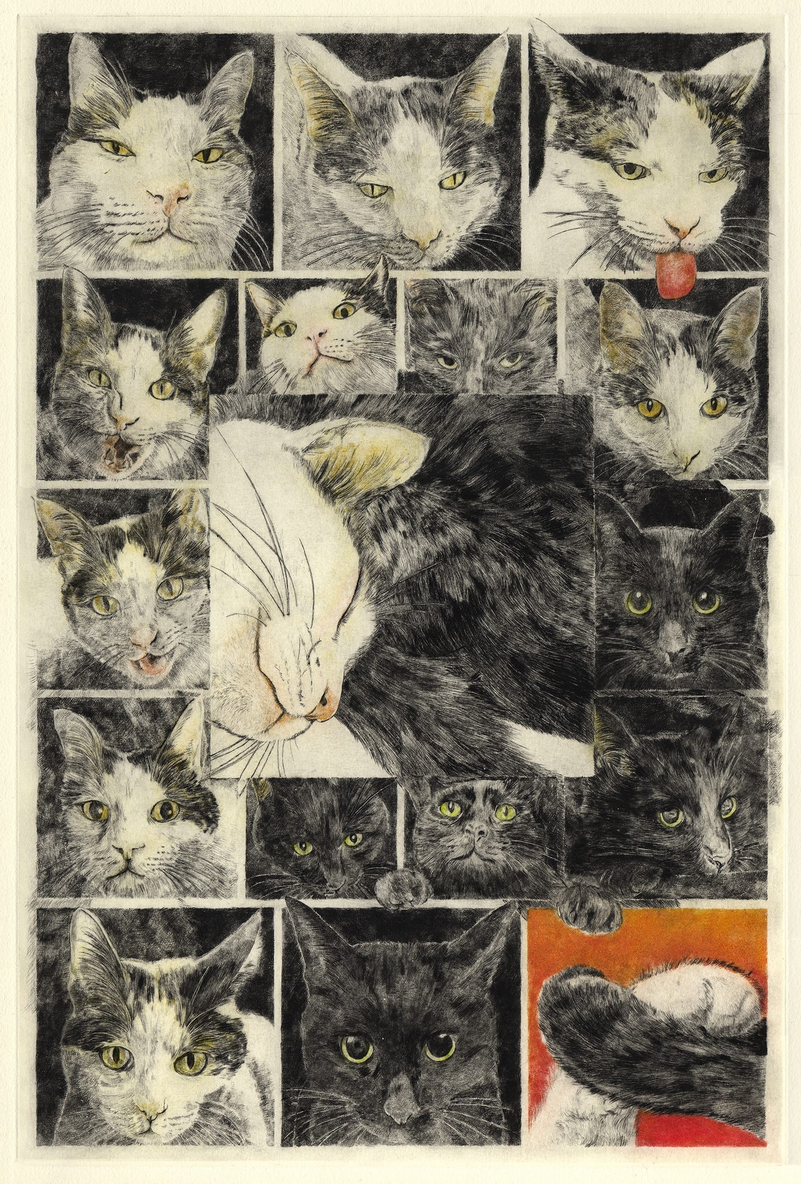 Kiseki (drypoint etching by Yaemi Shigyo)