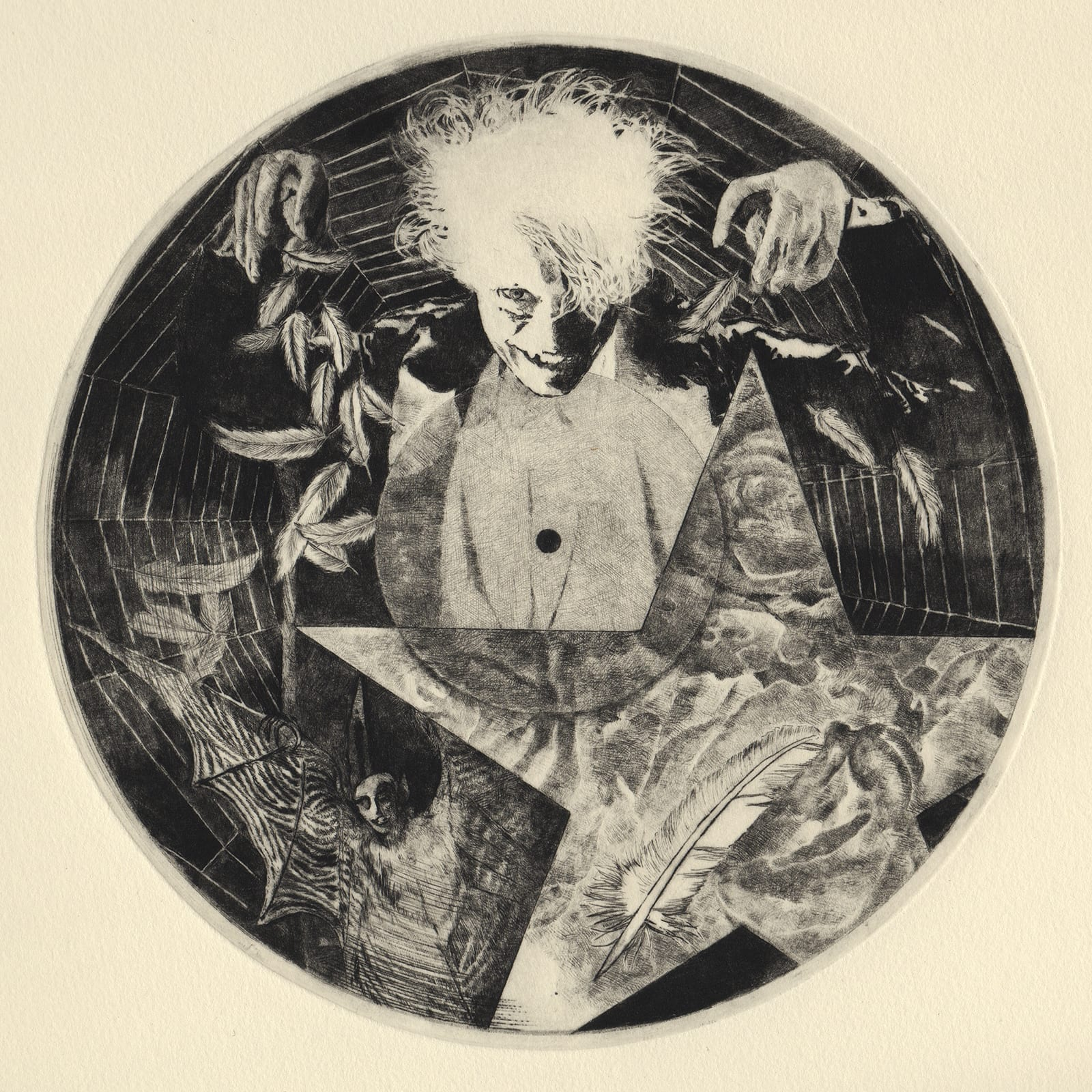 Music (drypoint etching by Yaemi Shigyo)