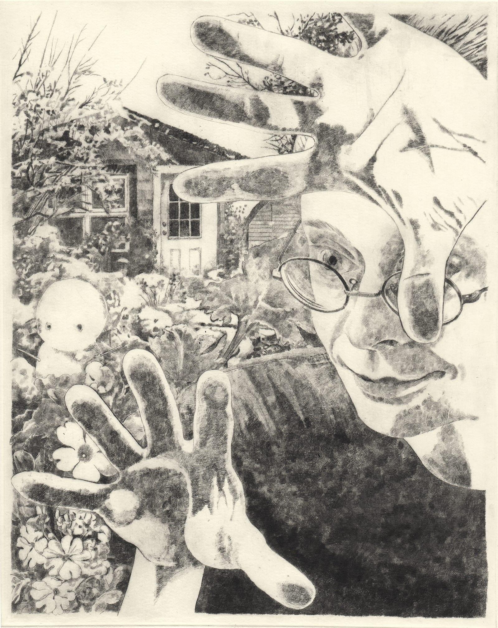 Winter 2 (drypoint etching by Yaemi Shigyo)