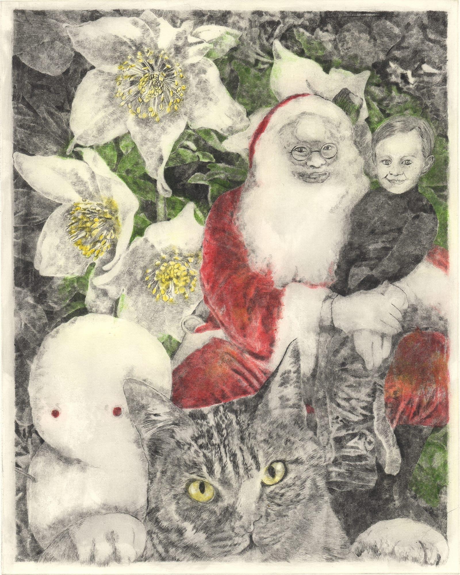 Winter 3 (drypoint etching by Yaemi Shigyo)