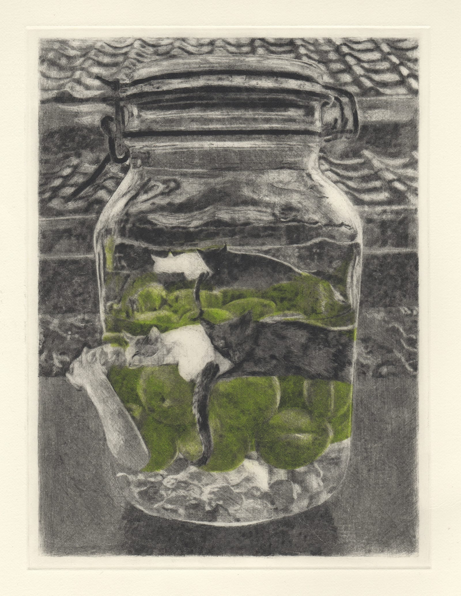 June afternoon (drypoint etching by Yaemi Shigyo)