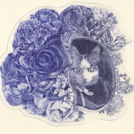 Hachitaro Bouquet postcard (front)