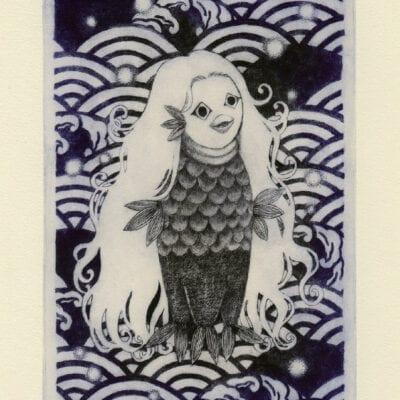 Amabie postcard (front)
