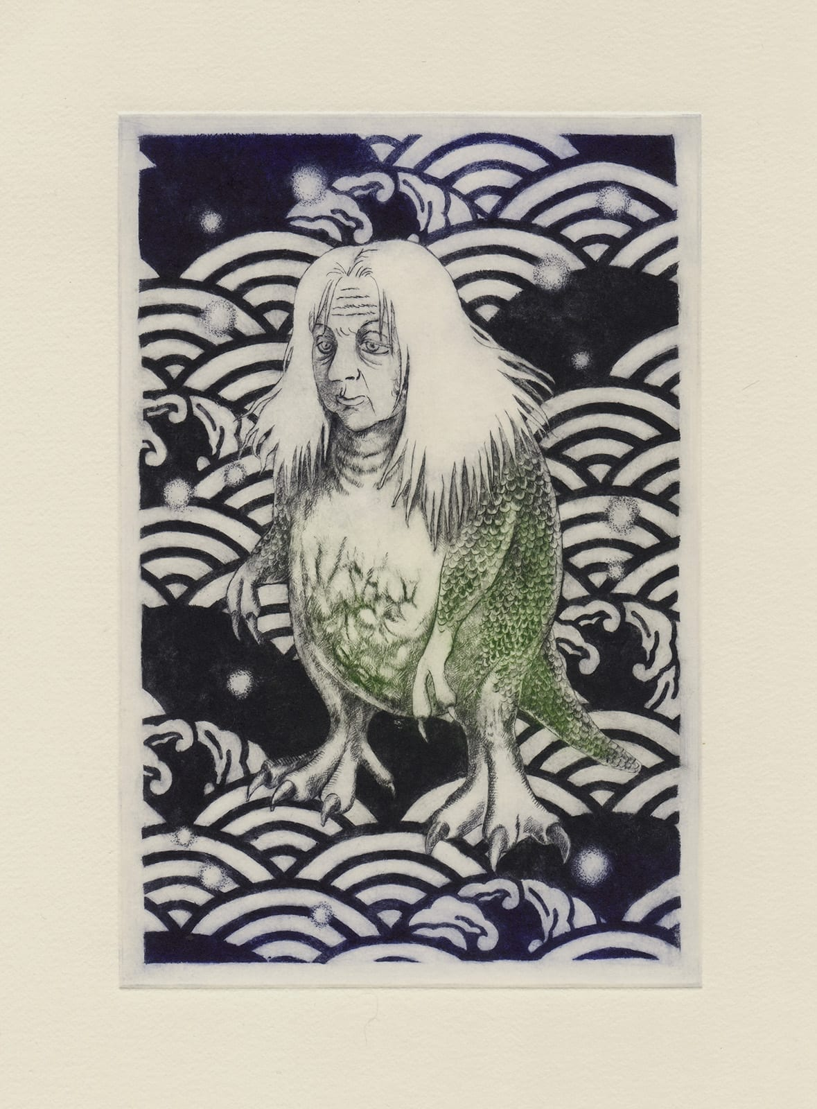 Alie (drypoint etching by Yaemi Shigyo)