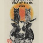 2021 (Reiwa 3) New Year's Card: Year of the Ox postcard (front)