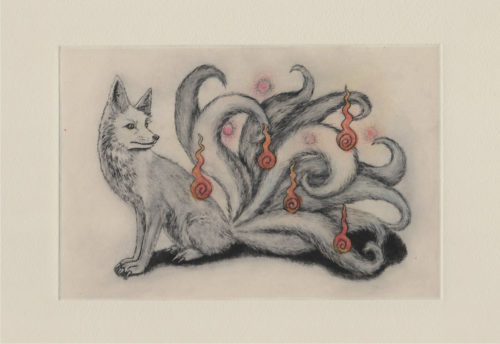Nine-Tailed Fox postcard (front)